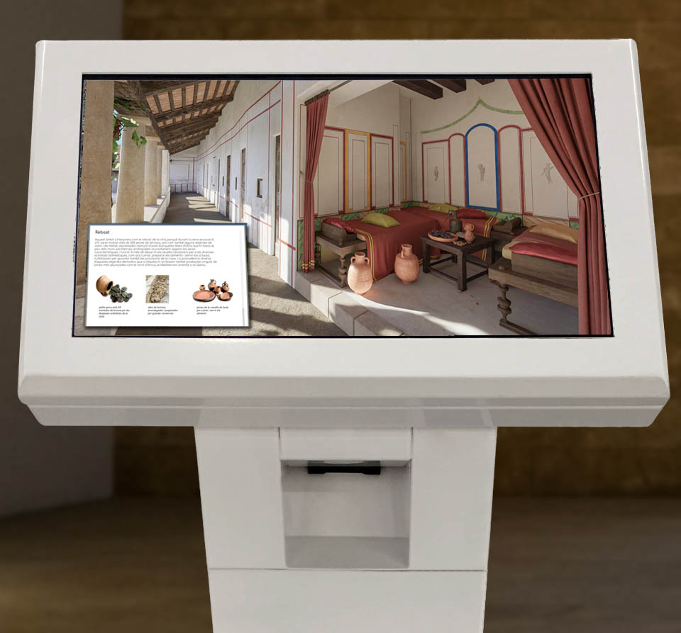 Tactile Tablet kiosk experience